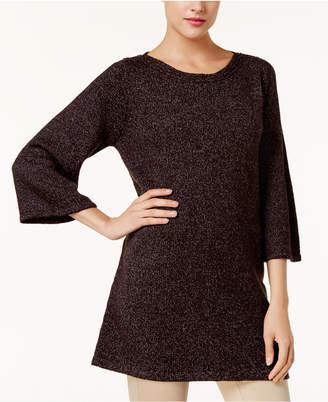 Karen Scott Boat-Neck Marled Sweater Tunic