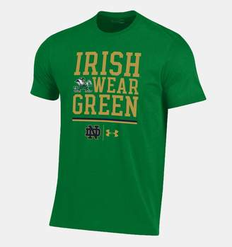 Under Armour Men's Notre Dame Charged Cotton Irish Wear Green T-Shirt