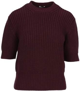 Miu Miu Short-sleeve Knitted Sweater