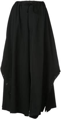 Yohji Yamamoto drawstring midi skirt