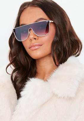 Missguided Quay Australia Can You Not Gold Purple Sunglasses