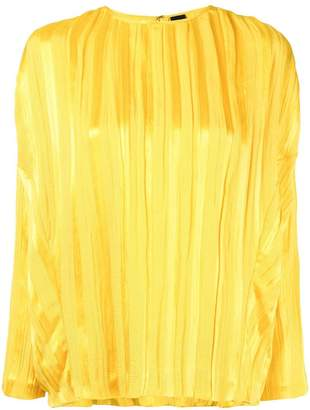 Zero Maria Cornejo plissé long-sleeved blouse