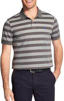 Izod Easy Care Short Sleeve Stripe Knit Polo Shirt