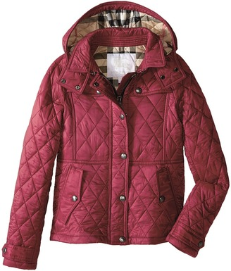 Burberry Kids - Mini Foxmoore Quilted Trench Parka Girl's Coat $350 thestylecure.com
