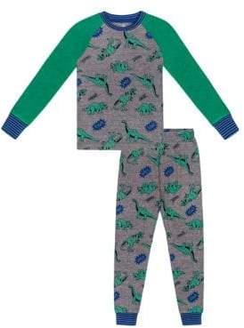 Petit Lem Little Boy's Two-Piece Dino Raglan Pajama Set