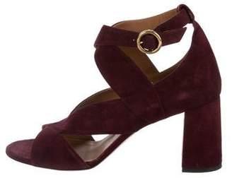 Chloé Suede Cutout Sandals
