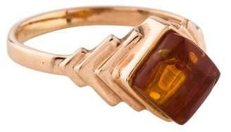 Ring 14K Amber Cocktail