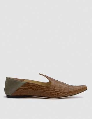 Trademark Lewitt Faux Croc Slipper