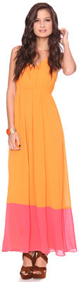 Forever 21 Colorblock Maxi Dress