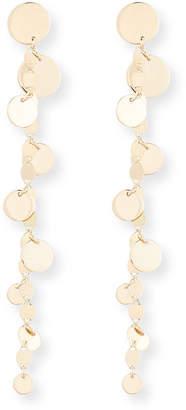 Lana Disc Fringe Earrings