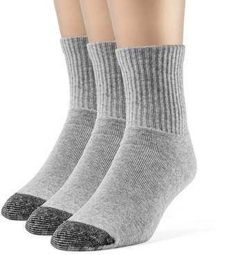 Chanpell Women's Cotton Comfort Quarter Cushion Socks - 3 Pairs