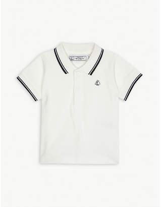 Petit Bateau Logo striped cotton polo shirt 3-24 months