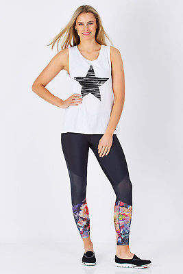 Running Bare NEW Womens Tanks New Guard Muscle Tank White