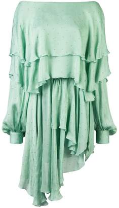 Alexandre Vauthier one-shoulder ruffle dress