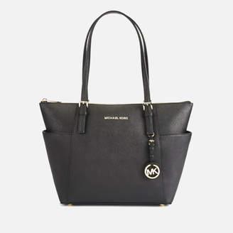 MICHAEL Michael Kors Women's Jet Set East West Top Zip Tote Bag - Black