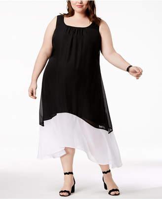 Love Squared Trendy Plus Size Colorblocked Maxi Dress