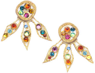 "Michal Golan Jewelry Multi-Colored Flower Ear Jackets ""Aurora"""