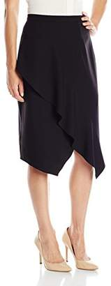 Lark & Ro Women's Asymetric Drape Skirt