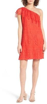 Women's Love, Fire Lace One-Shoulder Dress $45 thestylecure.com