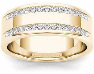 Imperial Diamond Imperial 1/2 Carat T.W. Diamond Men's 14kt Yellow Gold Wedding Band