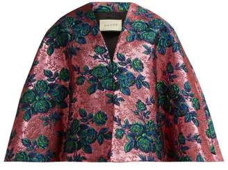 Gucci Floral Metallic Brocade Cape - Womens - Pink