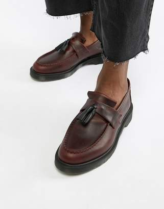Dr. Martens Adrian tassel loafers in deep red