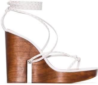 White Sandals High Women Wedge For Uk Shopstyle Wiuoztkxp OiZPXuk