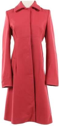 Philosophy di Alberta Ferretti Red Wool Coats