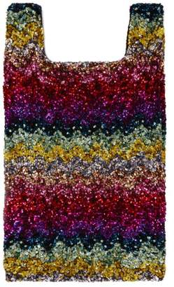 Ashish Rainbow Wave Sequin Embellished Cotton Tote - Womens - Multi