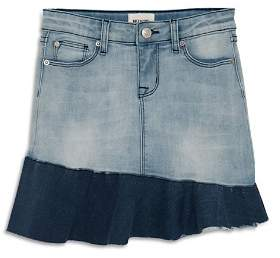 Hudson Girls' Asymmetrical-Ruffle Denim Skirt, Big Kid - 100% Exclusive