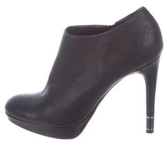 Christian Dior Leather Round-Toe Booties