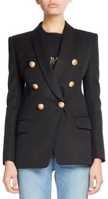 Balmain Classic Double-Breasted Long Blazer $2,240 thestylecure.com