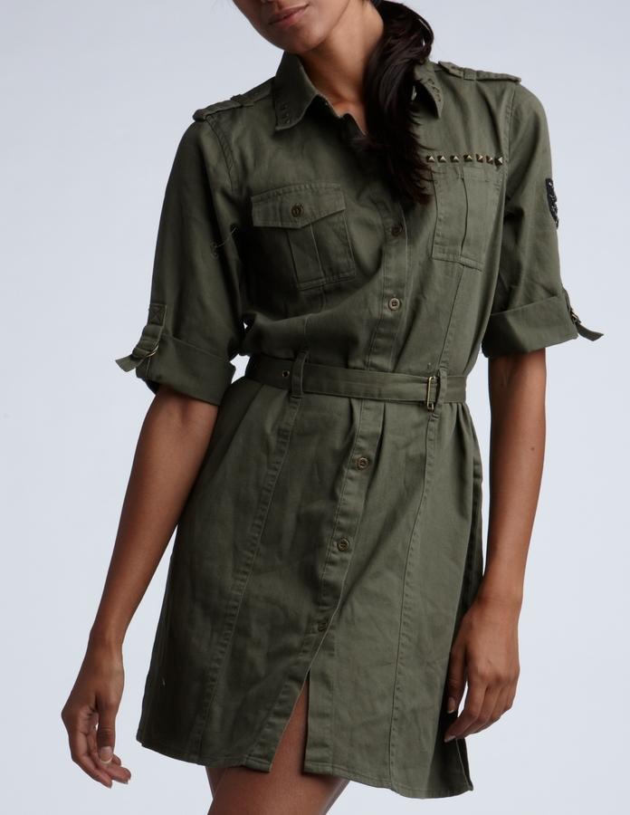 Military Shirt Dress