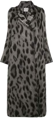 Forte Forte leopard print oversized coat