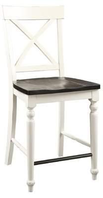 Beachcrest Home Mulcahy X-Back Solid Wood Barstool