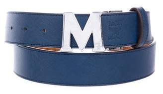 MCM Reversible Visetos Logo Belt