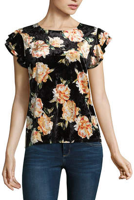 A.N.A Short Sleeve Crew Neck Floral T-Shirt - Tall
