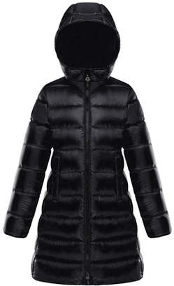 Moncler Suyen Hooded Long Puffer Coat, Sizes 8-14