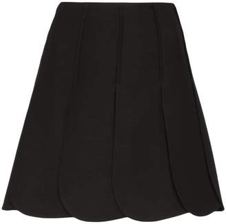 Valentino petal pleated mini-skirt