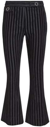 Derek Lam 10 Crosby Striped Crop Flare Trousers