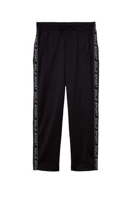 Gold Sport Cropped Track Pant