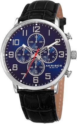 Akribos XXIV Men's Chronograph Strap Watch, 42mm