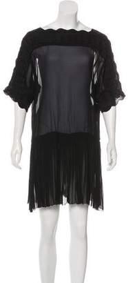 Etoile Isabel Marant Semi-Sheer Embroidered Dress