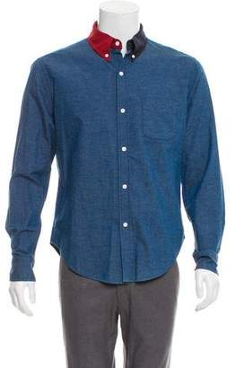 Band Of Outsiders Colorblock Button-Up Shirt