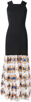 Christopher Kane bodycon dress with flower skirt