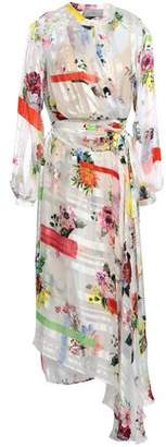 Preen by Thornton Bregazzi Floral-print Silk-satin And Chiffon Midi Wrap Dress