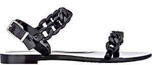 Givenchy Women's Chain-Link Jelly Sandals - Black