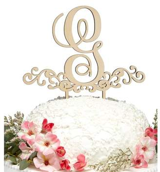 aMonogramArtUnlimited Decorated Letter Wooden Cake Topper