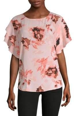 Calvin Klein Floral Flutter Top
