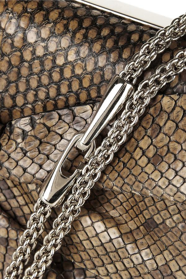 Valentino Bow-embellished python shoulder bag